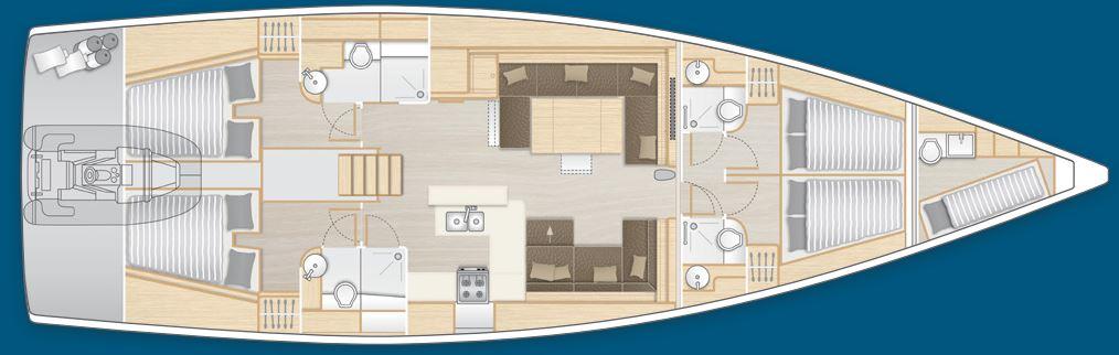 Navalia - Imbarcazione Hanse 588 – 4+1 cab. 12