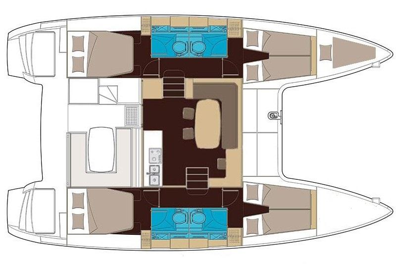 Navalia - Imbarcazione Lagoon 40 – 4+1 cab. 13
