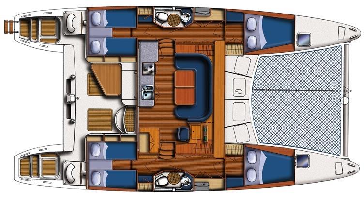 Navalia - Imbarcazione Lagoon 440 alle Mauritius – one way La Balise Marina/Grand Baie 12