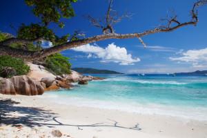 Grande Soeur, a small island  near La Digue, Seychelles