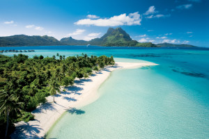 Enjoy time on our private beach in Bora Bora.