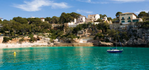 Die Bucht von Porto Cristo auf Mallorca