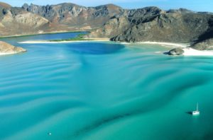 Puerto Balandra near La Paz is a surreal tropical paradise and a favorite anchorage for visiting yachts.