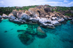 Aerial View of The Baths Virgin Gorda British Virgin Islands