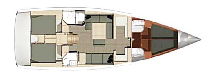 Navalia - Imbarcazione Dufour 500 – 4 cab. e 4 wc 13