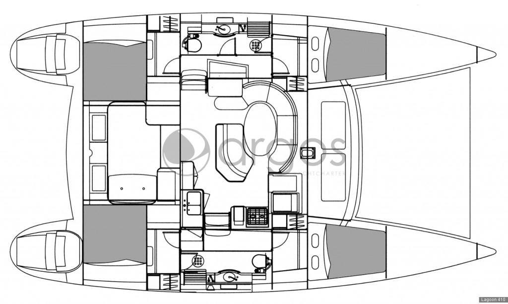 Navalia - Imbarcazione Lagoon 410 – 4 cab. con 2 WC 9