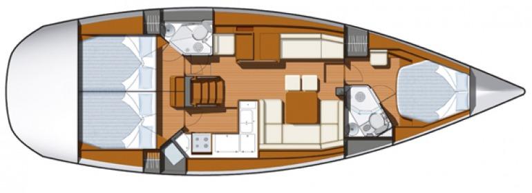 Navalia - Imbarcazione Sun Odyssey 45 DS – 3 cab. 10